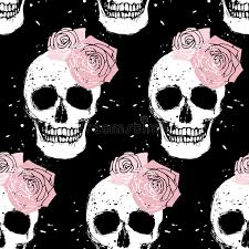 skull wrapping paper grunge skull and seamless pattern stock vector image 45678027