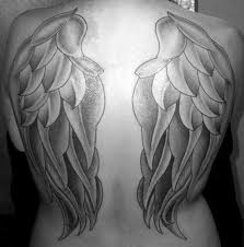 white ink tattoos wings on back pictures to pin on