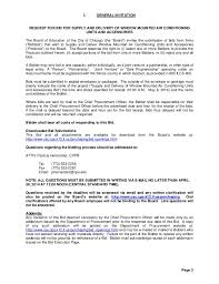 bid for cps rfp 14 250020 bid for window mounted air conditioning units 042