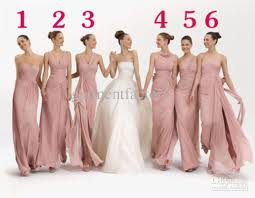 bridesmaid dresses online stunning mix bridesmaid dresses in six different sytles dusky pink