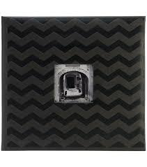 pioneer scrapbook album embossed post bound scrapbook album 12 x12 black chevron joann