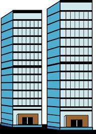 tall building clipart 3d