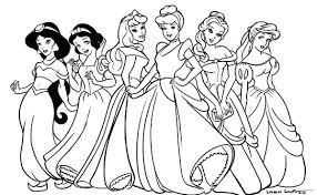 coloring pages of disney coloring pages of princesses in disney princess pictures coloring