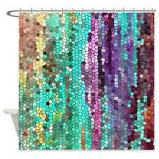 Unique Fabric Shower Curtains Purple And Teal Shower Curtain Home Design Plan