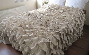 Shabby To Chic by Bedding Set Intriguing Shabby Chic White Ruffle Comforter