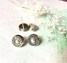 bullet stud earrings pearl bullet stud earrings sterling silver bullet jewelry