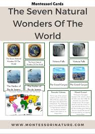 the seven natural wonders of the world montessori nature
