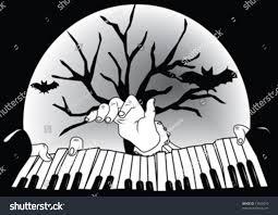 cemetery instrumental soundtrack halloween background sounds piano front moon halloween bat stock vector 73563010 shutterstock