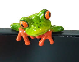 Frog Desk Accessories Frog Computer Monitor Decor Cube Decor Zone