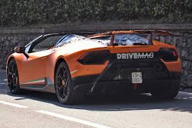 lamborghini huracan performante 2018 2018 huracan performante spyder on its way to becoming