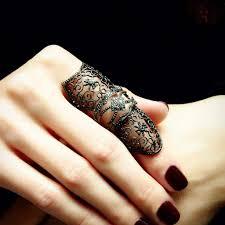 black finger rings images Gladiator quot black diamond full finger ring plukka JPG