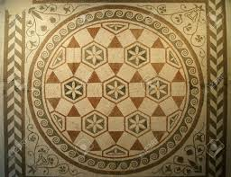 Ancient Roman Villa Floor Plan by Mosaic Pattern Of The Ancient Villa Stock Photo Picture And