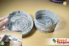 tutorial kerajinan tangan dari kertas gulung kerajinan tangan dari koran kreasi tangan