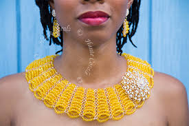 crystal collar statement necklace images Amelia yellow crystal bead collar statement necklace hautecorals jpg