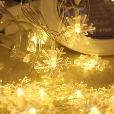 snowflake string of lights snowflake string battery operated 20 led light for bedroom outdoor