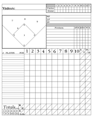 baseball scouting report template this youth baseball score sheet has space to keep track of runs