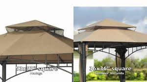 For Living Gazebo Cover by Target Madaga Gazebo Replacement Canopy Youtube