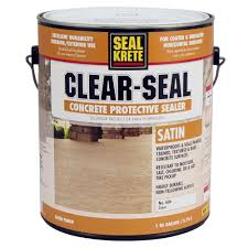 Slate Patio Sealer by Seal Krete 1 Gal Satin Clear Seal Concrete Protective Sealer