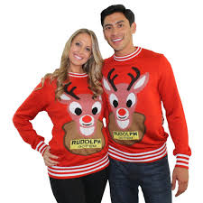 sweaters mounted rudolph with reindeer