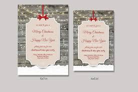 Christmas Invitation Cards Template Christmas Invitation Flyer V151 Flyer Templates Creative Market