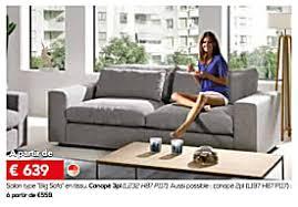 toff canapé meubles toff promotion salon type big sofa en tissu canapé 3p
