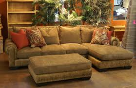 rustic sofas and loveseats furniture l shaped brown fabric rustic couch for vintage themed