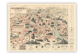 cavallini frames map of florence wrapping paper cyclemiles