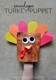 adorable envelope turkey puppet i crafty things