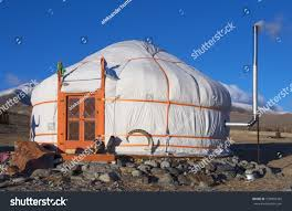 yurt traditional house turks mongols steppes stock photo 539895343
