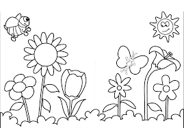 spring flowers coloring pages printable coloring