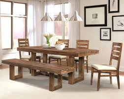Dining Table Bench With Back Furniture Nice Design Of Benches For Dining Room Tables Shows