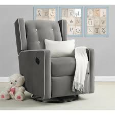 Glider Recliner With Ottoman For Nursery Baby Relax Mikayla Grey Swivel Gliding Recliner Swivel Glider