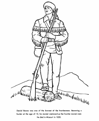 Daniel Boone Coloring Page usa printables daniel boone coloring pages americans in us