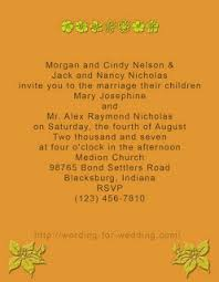 Wedding Invitation Wording From Bride And Groom Template And Sample For Informal Wedding Invitation Wording By