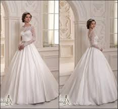lace top wedding dress 2015 sleeves low back lace top satin skirt wedding