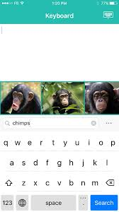 chimpkey keyboard app chat emoticons send gifs text pictures