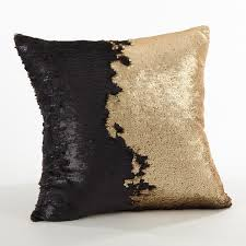 home design down pillow sirun collection sequin mermaid design down filled throw pillow
