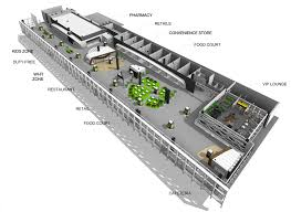 Airport Floor Plan by Commercial Area San Jose Del Cabo Airport Sanzpont Arquitectura