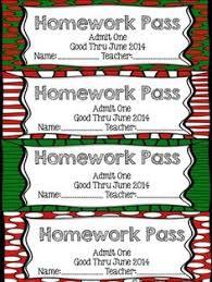 free christmas homework passes teach it u0027s what i do