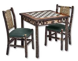 hickory game table and chairs hickory game table and chairs orvis