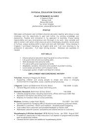 Education Example Resume by Physical Education Resume Objective Examples 1 Sample Resume New