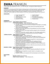 Media Resume Template Pr Resume Examples Public Relations Assistant Resume Samples