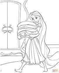 rapunzel coloring page girls do up rapunzels hair wicked witch