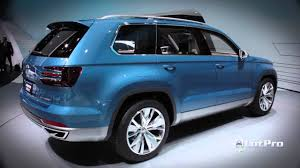 volkswagen crossblue vw cross blue suv concept preview 2013 detroit auto show youtube