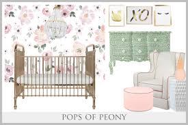 Pink Peonies Nursery Pops Of Peony U2013 Curated Nest Nurseries U0026 Design