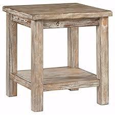 Wood Side Table Distressed Wood Side Table