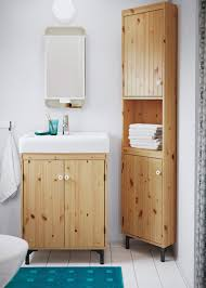 Small Bathroom Storage Ideas Ikea Small Bathroom With A Wash Basin Cabinet And A Corner Cabinet In