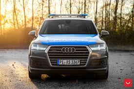 slammed audi a7 slammed audi q7 police car rides on vossen cv3r rims autoevolution