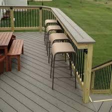 Building A Wood Bar Top Wood Deck Rail Home Improvement Pinterest Decking Woods And