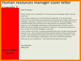 cover letter addressed to hr manager